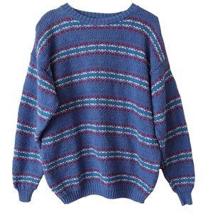 Vintage LizWear Blue Knit Sweater